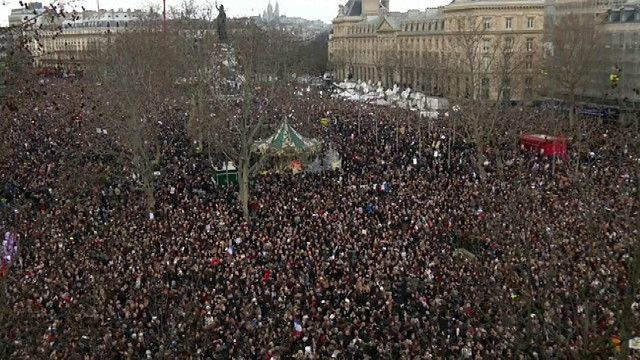 مسيرة الوحدة  في باريس