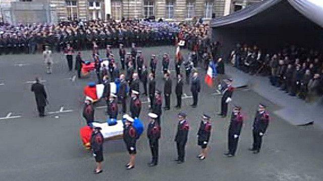 Похороны полицейских в Париже