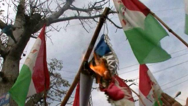 Сжигание флага Франции