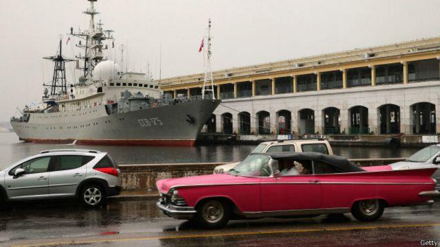 Em dia histórico para EUA e Cuba, o que faz um navio espião russo em Havana?