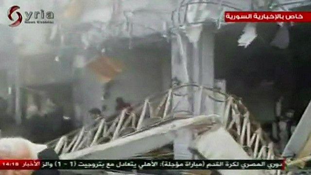 اثار التفجير في حمص