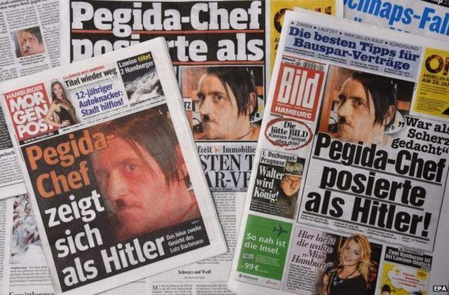 """زعيم """"بيغيدا"""" المناهضة للإسلام يستقيل بسبب """" هتلر"""""""