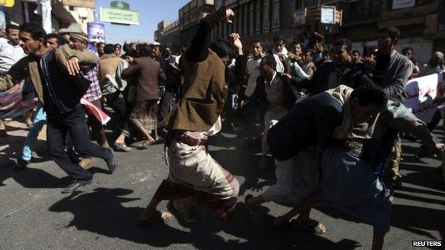"""مظاهرات حاشدة في صنعاء """"للتنديد بالحوثيين"""""""