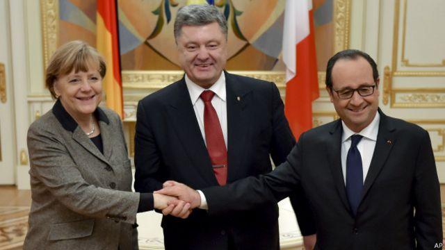 Líderes mundiais se reúnem para tentar costurar acordo na Ucrânia