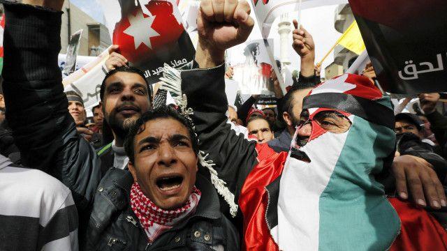 Участники демонстрации в Аммане