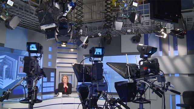 В телевизионной студии ТВ2