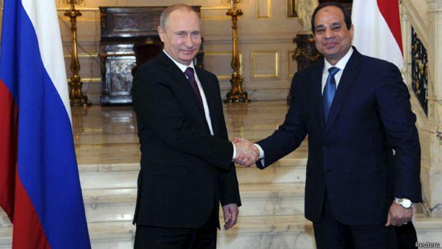 فلاديمير بوتين يختتم زيارة لمصر