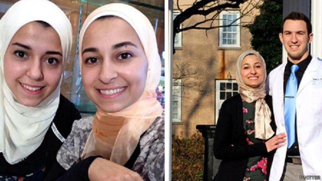 अमरीका में तीन मुसलमान छात्रों की हत्या