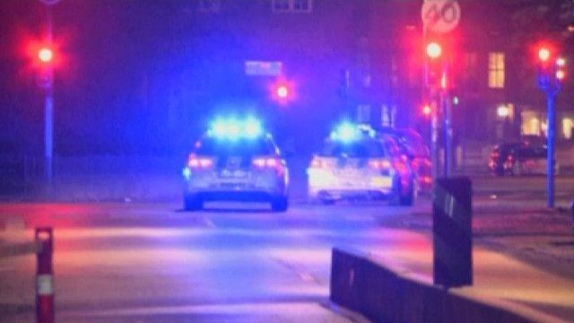 Полицейские машины на улице Копенгагена