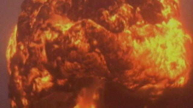 Огненный шар от взрыва