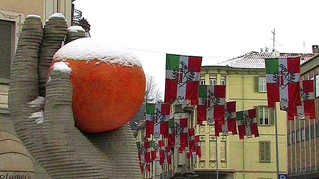 Ivrea central square, Italy