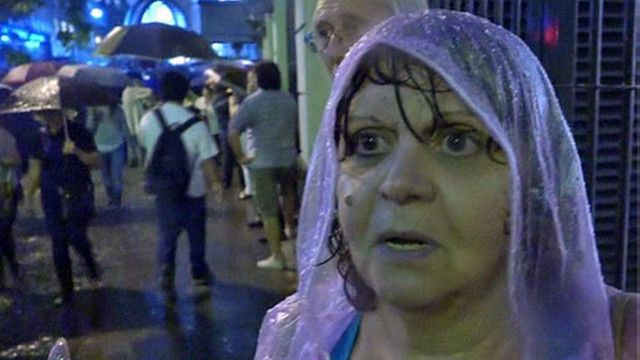 Manifestante argentina
