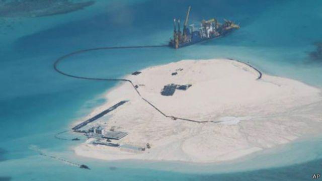 軍網:中國在南沙「大規模」填海造島