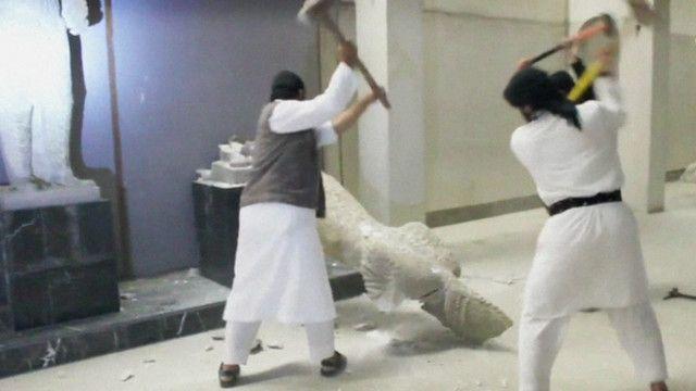 Уничтожение ценностей боевиками ИГ