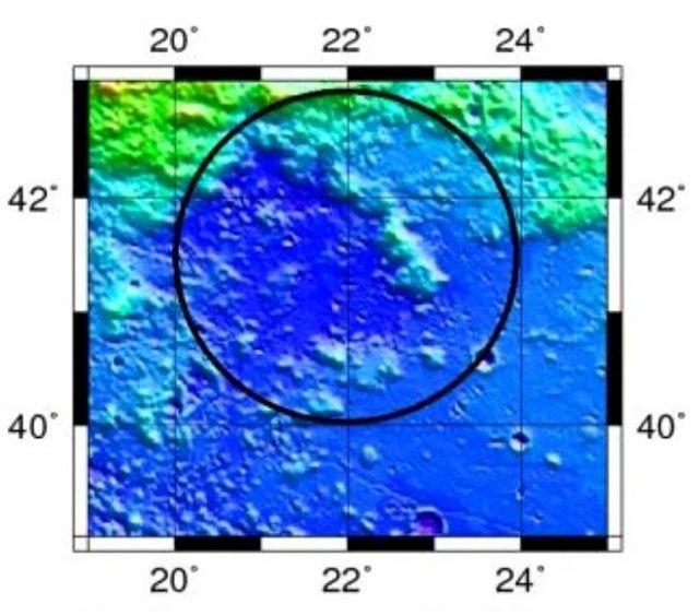Por primera vez en un siglo hallan un cráter inmenso en la Luna