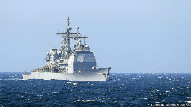 Военное судно США принимает участие в маневрах НАТО на Черном море, 16 марта 2015 г.