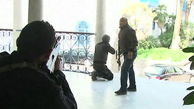Бойцы спецслужб Туниса