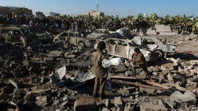 """""""عاصفة الحزم"""": تواصل غارات السعودية ضد الحوثيين في اليمن"""