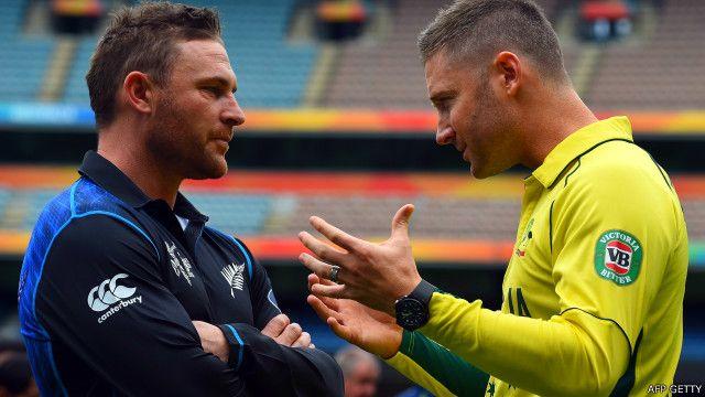 न्यूज़ीलैंड और ऑस्ट्रेलिया के कप्तान