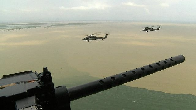 Вертолеты колумбийской полиции
