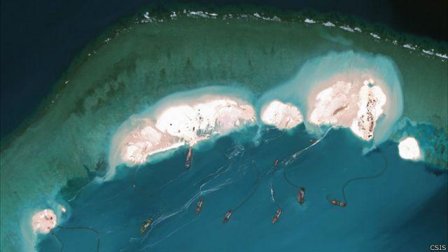 美國:中國南海填海工程威脅地區安定