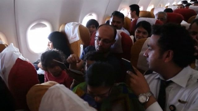Пассажиры на борту Air India
