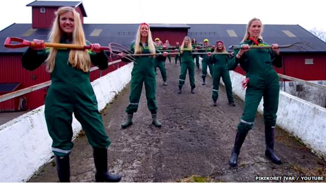 Vídeo viral na Noruega usa coral de garotas para defender agricultura tradicional