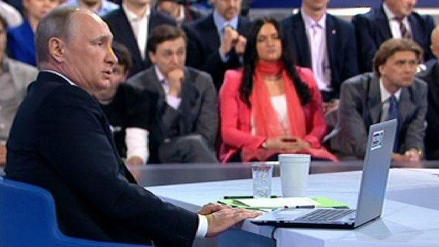 Путин в Гостинном дворе