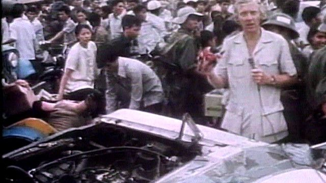 Hình ảnh tư liệu từ tường thuật của phóng viên BBC Brian Barron ngày 30/4/1975