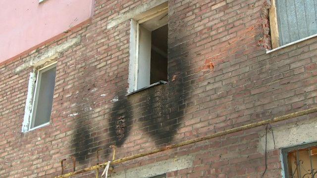 Пострадавший дом в Донецке