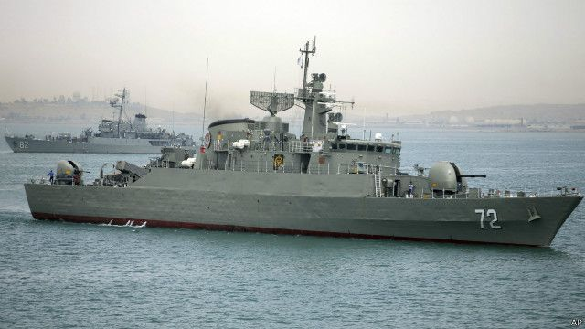 """الجيش الأمريكي """"يراقب"""" اعتراض إيران لسفينة في الخليج"""