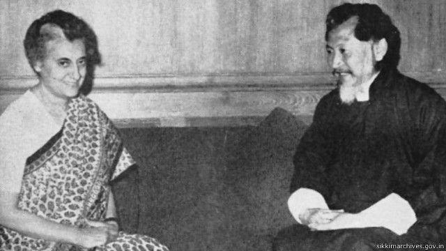 इंदिरा गांधी और चोग्याल