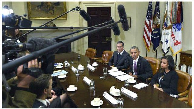 Tổng thống Mỹ Obama hội kiến Điếu Cày và các nhà báo