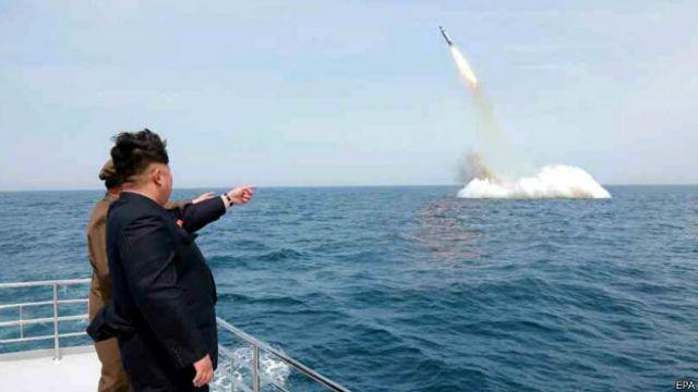 Corea del Norte prueba un misil balístico submarino