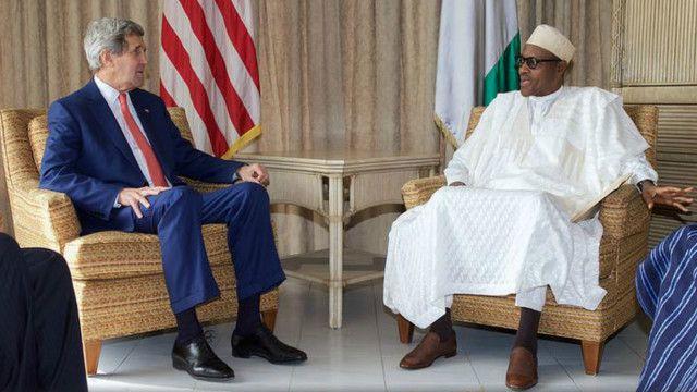 Mr. Kerry ya gana da shuagab Buhari a lokacin ziyarar tasa