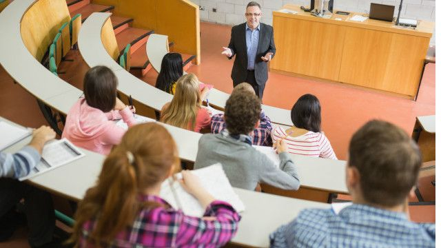 Students attend a lecture
