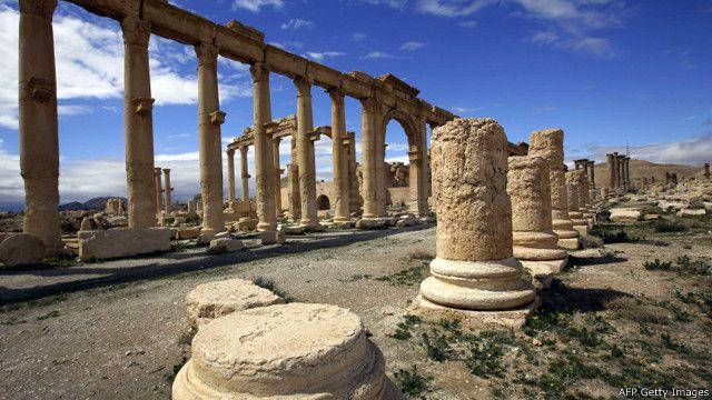 Руины древней Пальмиры в Сирии