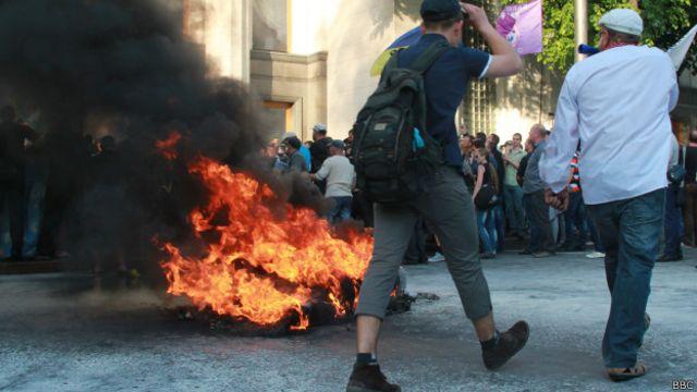 Протест возле Рады: пострадавших и задержанных нет