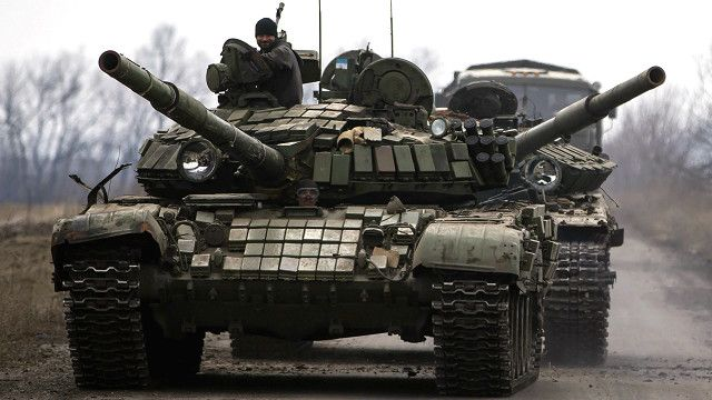 Rebels tank, Debaltseve