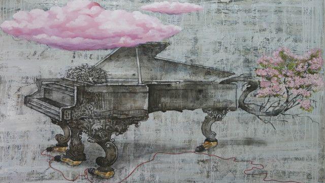 जी आर ईरन्ना की पेंटिंग पियानो