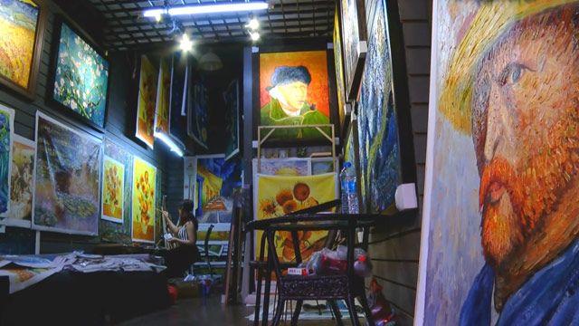 Xưởng sao chép tranh nghệ thuật ở Trung Quốc