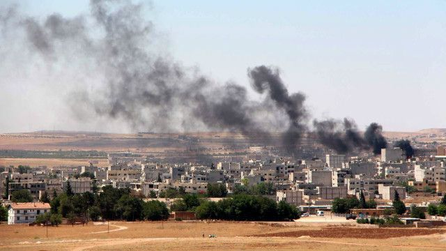 kobane smoke