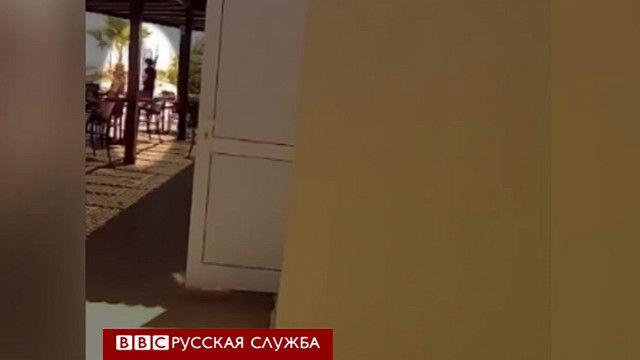Кадр видеозаписи с телефона сотрудника отеля