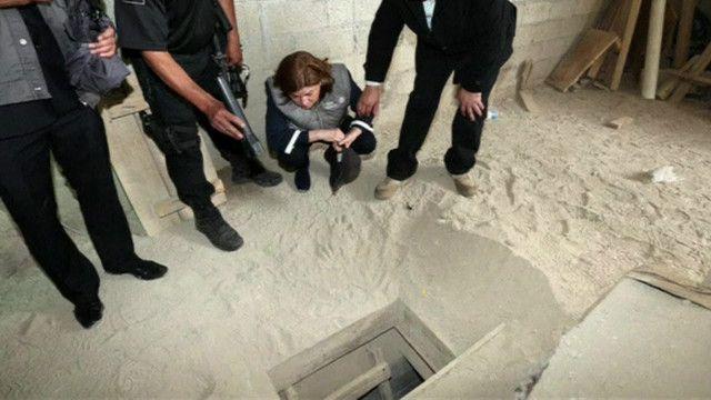Túnel por el que escapó el Chapo Guzmán