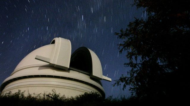 An observatory and the night sky