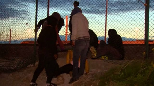 Мигранты в Кале