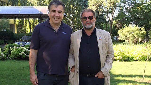 Михаил Саакашвили (слева) и Борис Гребенщиков