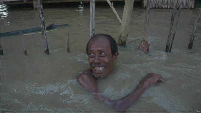 پاکستان میں سیلاب کا منظر