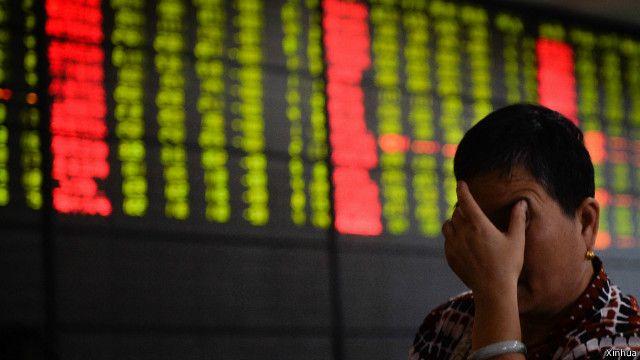 چین میں سٹاک ایکسچینج کا ایک منظر