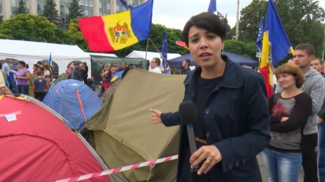 Молдова, Кишинев, протести